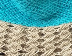 This reversible cowl designed using Indian Cross Stitch and Slip Stitch Honey Comb patterns.