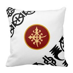 Colourful Throw Pillows-African Adinkra Symbols Pillows
