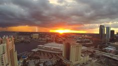 Sunset & Lightnight over Tampa Bay from our drone this evening.  http://celebrationsoftampabay.com/real-estate-photographers-tampa/