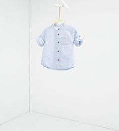 Image 1 of Shirt with roll-up sleeves from Zara Roll Up Sleeves, Shirt Sleeves, Baby Boy Fashion, Kids Fashion, Zara Boys, Baby Boy Outfits, Cute Boys, Kids Shirts, What To Wear