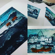 So recently I have been printmaking, thanks to a great #collagraph workshop with printmaker Suzie Mackenzie #printmaking #artisfun #newexperience