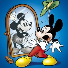 """""""Then n Now"""" Mickey Mouse"""