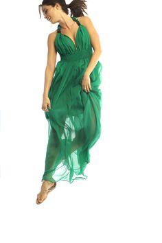 Green, ethereal, flowy. Marie Dress