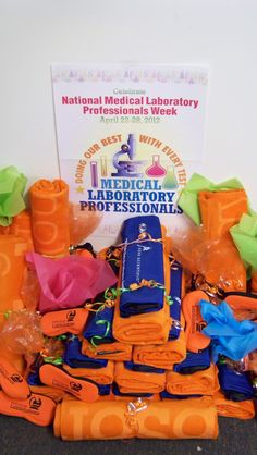 Lab Week gift packages for all the hardworking lab folks! Medical Laboratory, Gift Packaging, Goodies, Gifts, Ideas, Sweet Like Candy, Gift Wrapper, Favors, Gift Boxes