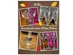 gravure sur verre personnalisée#cadeaux association# Artisanal, Custom Glass, Glass Etching, Gifts
