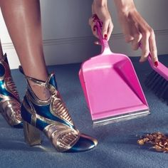 SWEEPING IS MORE FUN IN VUITTON BOOTIES