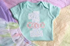 Make this cute patterned iron-on onesie for a first birthday