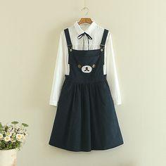 Japanese cute braces skirt