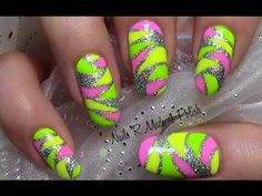 Mosaik Nägel / Buntes Sommer Nageldesign / Colorful Nail Art Design Tutorial - YouTube