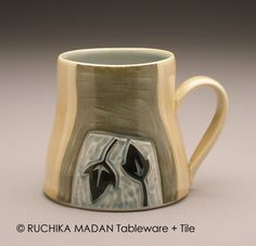 Leaves and Vine Ceramic Mug Ruchika Madan by ruchika on Etsy