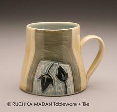 Leaves and Vine Ceramic Mug Ruchika Madan by ruchika on Etsy