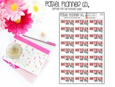 Netflix Stickers Netflix All Day Perfect for by PastelPlannerCo