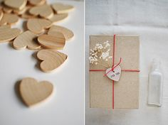 Simple Wood Heart Packaging DIY // Lauren Elise Crafted