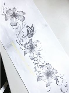 Blumen-Tattoo-Design - My list of best tattoo models Vine Tattoos, Forearm Tattoos, Body Art Tattoos, Sleeve Tattoos, Lily Tattoo Sleeve, Tattoo Shoulder, Trendy Tattoos, Tattoos For Guys, Tattoos For Women