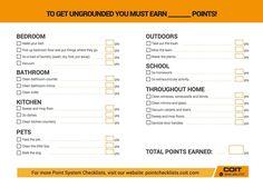 COIT Get ungrounded checklist. Help teach your kids how to get ungrounded! Parenting Advice, Kids And Parenting, Peaceful Parenting, Gentle Parenting, Reward System, Behavior System, Kids Behavior, Behavior Modification, Toddler Discipline
