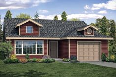 Houseplan 035-00827 Cottage Style House Plans, Ranch House Plans, Best House Plans, Small House Plans, Cottage House, House Floor Plans, Tiny House, 2 Bed House
