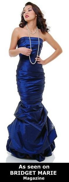 Green Formal Dress Strapless Mermaid Style Prom Dress (7 Colors/Size XS to 3XL)