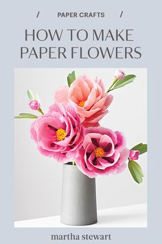 We have endless love for florist Livia Cetti's paper flowers, which are handcrafted, incredibly real-looking, and wilt-proof. We snipped a few pages from her book, The Exquisite Book of Paper Flowers, take a look for yourself and start making paper flowers for your wedding or as home decor. #weddingideas #wedding #marthstewartwedding #weddingplanning #weddingchecklist How To Make Paper Flowers, Flowers For You, Real Flowers, Paper Flower Garlands, Green Vase, Wedding Crafts, Crepe Paper, Floral Centerpieces, Flower Wall