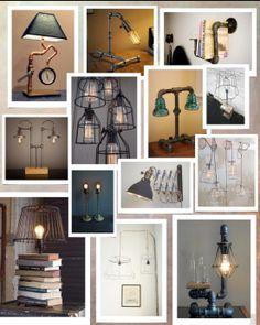 Industrial ghost lamp mood board