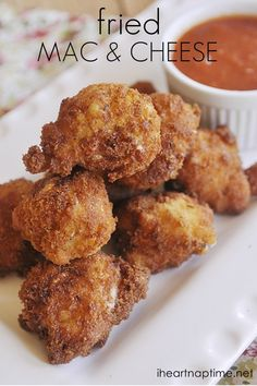 Fried Mac and Cheese... Ah! That sounds sooo good and soooo unhealthy!!! I'm making it!