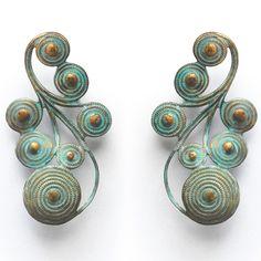 Nyah Verdigris Earrings by We Dream in Colour