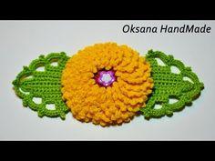 Объемный цветок крючком. Surround the flower is crochet. - YouTube