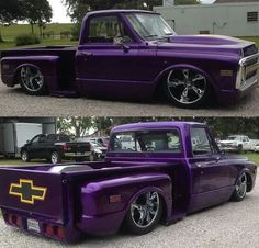 Custom '69/'70 Purple Chevy C/10 Stepside
