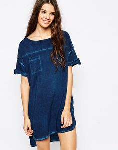 Image 1 of Only Washed Denim Tunic
