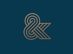 Ampersand by Kakha Kakhadzen #Design Popular #Dribbble #shots Typography Letters, Typography Logo, Typography Design, Number Typography, Brand Identity Design, Icon Design, Logo Sketch, Branding, Logo Luxury