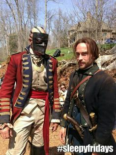Tom Mison & one of the four horseman of the apocalypse before he was beheaded on Sleepy Hollow.