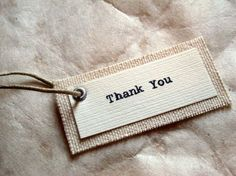 Items similar to Fabric Thank You Wedding Favor Tags - Rustic, Vintage-Inspired, Natural on Etsy Fashion Packaging, Jewelry Packaging, Brand Packaging, Fashion Branding, Packaging Design, Tag Design, Label Design, Fabric Labels, Swing Tags