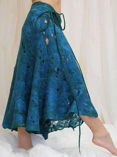 RESERVED Cobweb felted skirt  the sea dance by doseth on Etsy