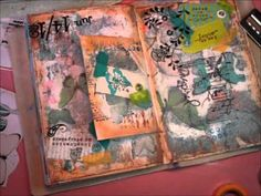 Part 2 - Awesome art journaling technique video.  Inspiration is Everywhere Pt2.wmv