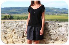 Super jolie jupe en lin noir