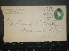 1894 STANDARD OIL Co SAN DIEGO to NATIONAL CITY, CA Postal Cover CALIFORNIA