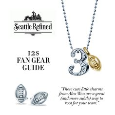 Ready, Set, Hut! Thanks #SeattleRefined for featuring our Little Number 3 and Mini Football, just in time for the #Superbowl on Sunday. This brings us to our #FBF - did you know that three years in a row from 2010-2012, family members of players who won the Superbowl had purchased our Little Numbers beforehand? Coincidence? We think not! #alexwoo #littlenumbers #football #putaminionit #lovegold #futureheirlooms #SB49
