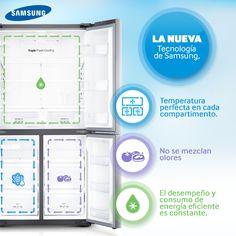 Con el refrigerador Samsung #T9000 tendrás un aliado en la cocina y al mejor guardián de tus alimentos.