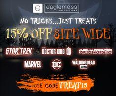 Eaglemoss - Halloween TREAT15 for 15% Off Purchases $65+ Site Wide Marvel Dc, Star Trek, Hobbies, Coding, Halloween, Halloween Labels, Programming, Spooky Halloween