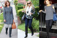 Как уложить не узкие джинсы в сапоги