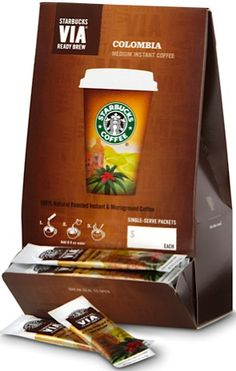 Starbucks VIA 50-pack: 28.95 + FREE shipping! {58c each}  #stockingstuffers