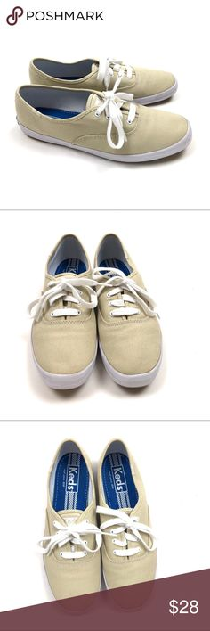Keds Canvas Sneakers Size 8.5 Tan White Casual Keds Canvas Shoes Womens Size 8.5 Tan & White   Condition: Excellent pre-owned condition. Keds Shoes Sneakers