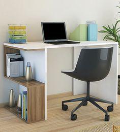 Decorating Bathroom Shelves, Decorating Bookshelves, Shelves In Bedroom, Study Table Designs, Study Room Design, Table Furniture, Furniture Design, Computer Desk Design, Classy Living Room