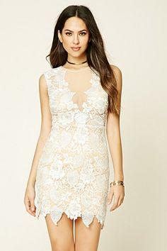 Contemporary Floral Lace Dress
