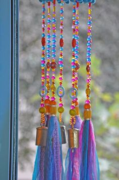 Colorful Sun Catcher Beaded Mobile With Brass #glassbeadstrands #ceilinghanging #bellsdecor #bellwindchimes #windchimes #uniquewindchimes #beadedsuncatcher #glassbeadchimes #glasssuncatchers #glasswindchimes #turquoisemobile #colorfullsuncatcher #colorfulwindchimes Crystal Beads, Glass Beads, Christmas Tree Ornaments, Christmas Gifts, Ceiling Hanging, Hanging Mobile, Beaded Curtains, Cozy Living Rooms, Sun Catcher