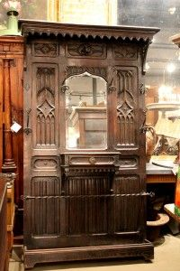 Hang your coats up in gothic glamor with this Antique French Gothic Style Coat Rack with Gorgeous Wrought Iron Hooks and Rail. $1,980