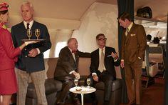 ROGER STERLING, BERT COOPER, JIM CUTLER & TED CHAOUGH | John Slattery, Robert Moses, Harry Hamlin & Kevin Rahm | ©Frank Ockenfels, AMC.