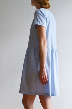 Pale blue cotton tun