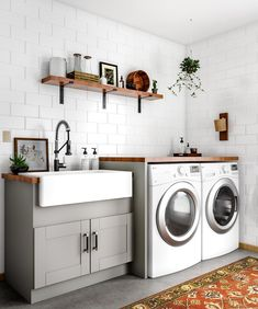 48 Modern Laundry Room Makeover Ideas for Your House 48 Modern Lau. 48 Modern Laundry Room Makeover Ideas for Your House 48 Modern Laundry Room Makeover Laundry Room Remodel, Laundry Room Cabinets, Laundry Room Organization, Laundry Room Design, Laundry In Bathroom, Basement Laundry, Laundry Room Utility Sink, Basement Bathroom, Kitchen Cabinets Around Window