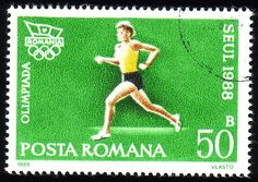 Stamp from Romania | Seoul 1988, Olympic Games