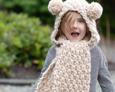 Knitting PATTERN-The Hayleigh Hood 12/18 months